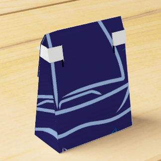 Yacht pattern party favor box