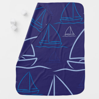 Yacht pattern stroller blanket