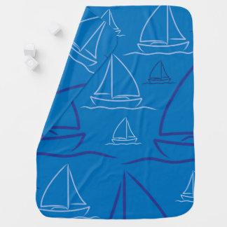 Yacht pattern swaddle blanket
