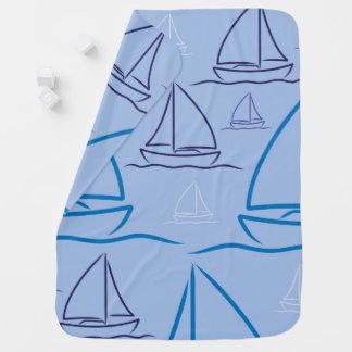 Yacht pattern swaddle blankets