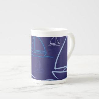 Yacht pattern tea cup