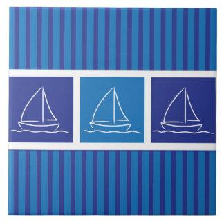 Yacht pattern tile