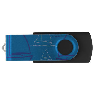 Yacht pattern USB flash drive