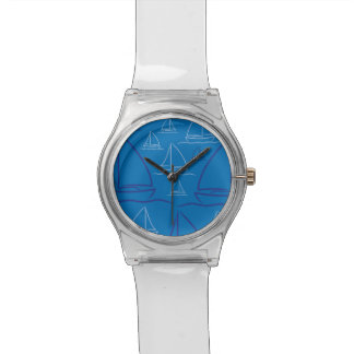 Yacht pattern wristwatch