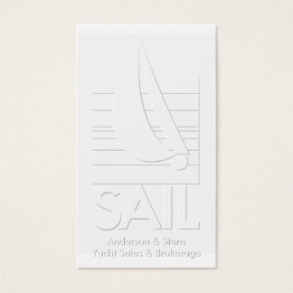 Yacht sales & brokerage embossed-look business card