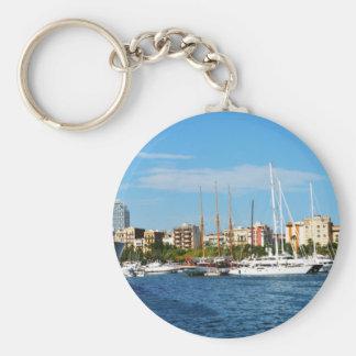 Yachting Basic Round Button Keychain