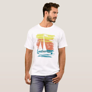 Yachting Boat on Sea T-Shirt