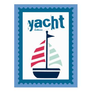 Yachting - Boating Sailing Sail Boat Postcard