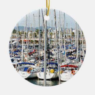 Yachting Ceramic Ornament