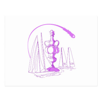 Yachting Championship Cup Drawing Postcard
