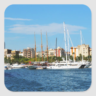 Yachting Square Sticker