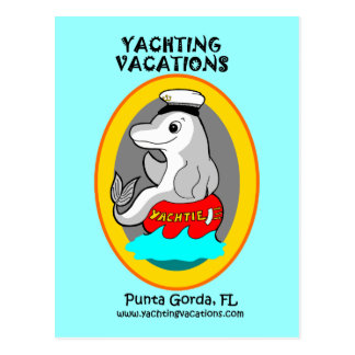 Yachting Vacations Yachtie Postcard