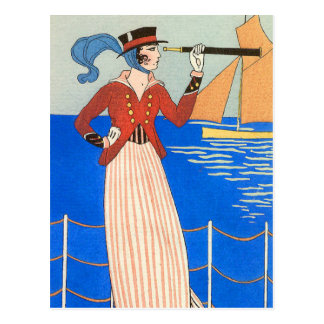 Yachting Wear by George Barbier Postcard