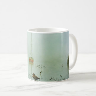 Yachts and Duck on a Misty Morning Coffee Mug