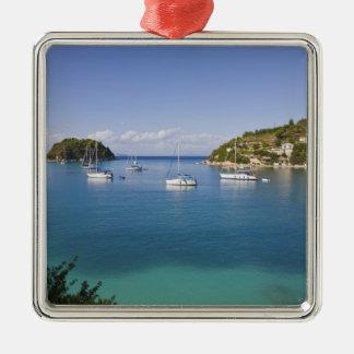 Yachts at anchor Lakka Paxos Greece Ornament