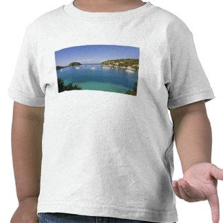 Yachts at anchor, Lakka, Paxos, Greece T-shirts