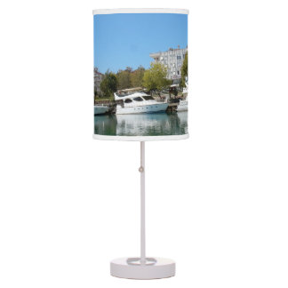Yachts in Turkey Table Lamp