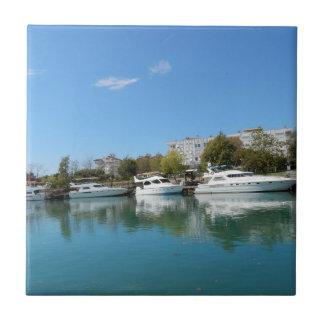 Yachts in Turkey Tile