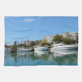Yachts in Turkey Towel