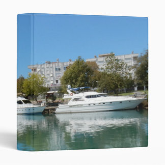 Yachts in Turkey Vinyl Binder