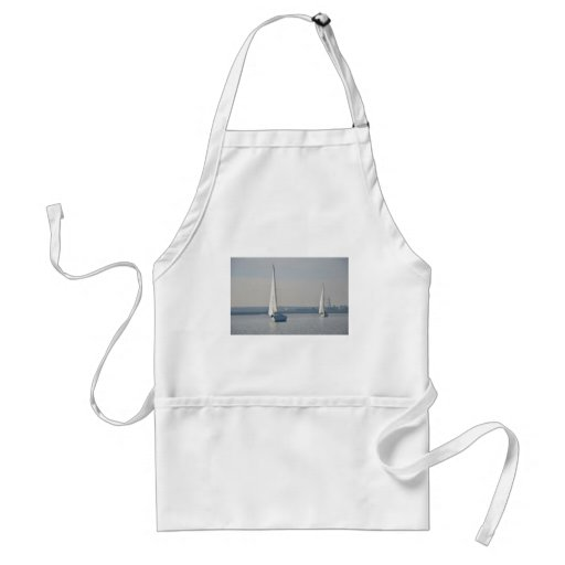 Yachts Racing In Light Airs Apron