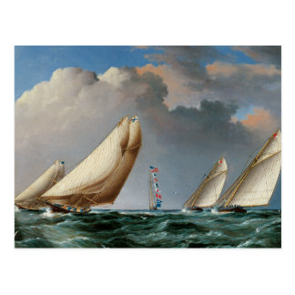 Yachts Rounding The Mark Postcard