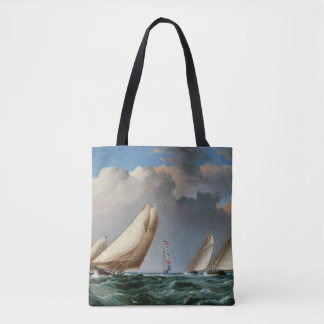 Yachts Rounding The Mark Tote Bag