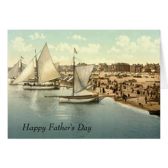 Yachts Starting at Yarmouth Father's Day Card