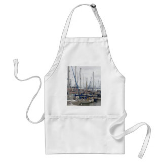 Yachts With Container Ships Apron