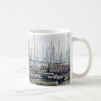 Yachts With Container Ships Coffee Mug