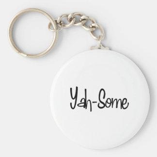 Yah-Some Basic Round Button Keychain