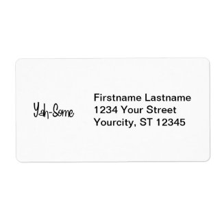 Yah-Some Personalized Shipping Label