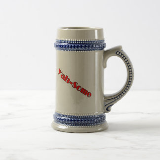 Yah-some (red) 18 oz beer stein