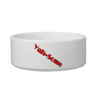 Yah-some (red) cat water bowls