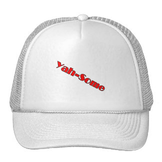 Yah-some (red) trucker hats