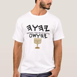 Yahuah Yahusha with Menorah T-Shirt