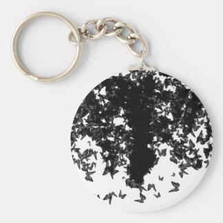 yaie black butterflies keychain