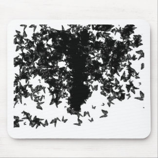 yaie black butterflies mouse pad
