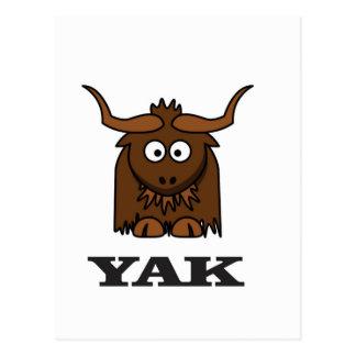 yak attack postcard