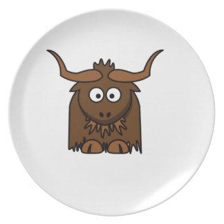 yak baby dinner plate