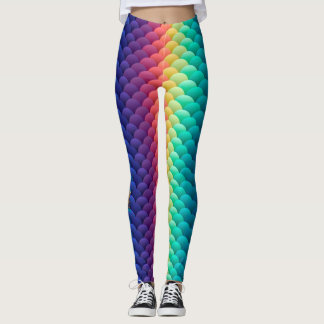 Yak Daks Original Design - 'Mardi Gras Mermaid' Leggings