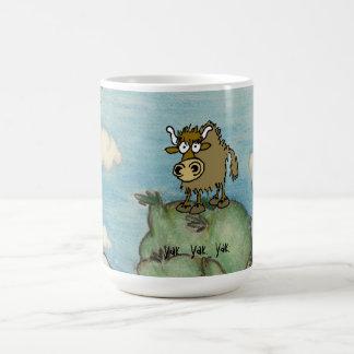 Yak on top of mountain coffee mug