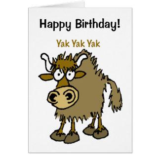 YAK yackety-yak birthday chatting card
