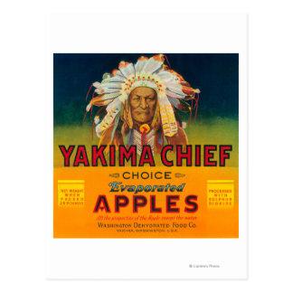 Yakima Chief Apple Label - Yakima, WA Postcard
