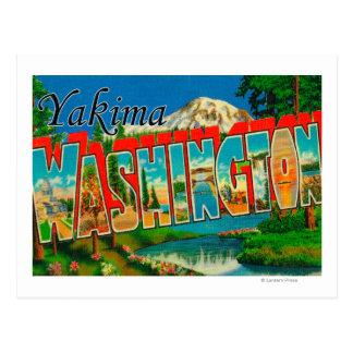 Yakima, Washington - Large Letter Scenes Postcard
