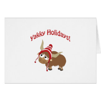 Yakky Holidays! Winter Yak Card