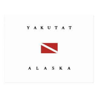 Yakutat Alaska Scuba Dive Flag Postcard