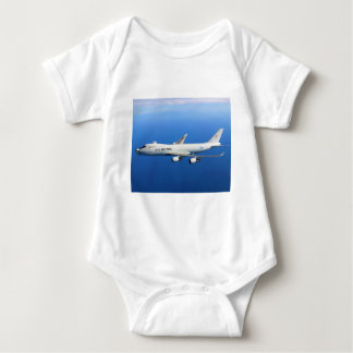 YAL-1A Airborne Laser Aircraft in flight Baby Bodysuit