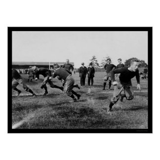 Yale Football Practice 1912 Poster