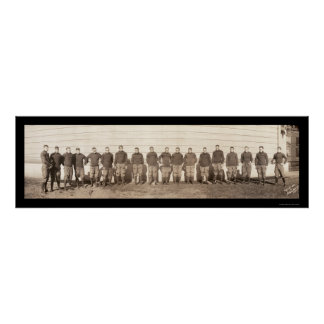 Yale Football Team Photo 1908 Poster